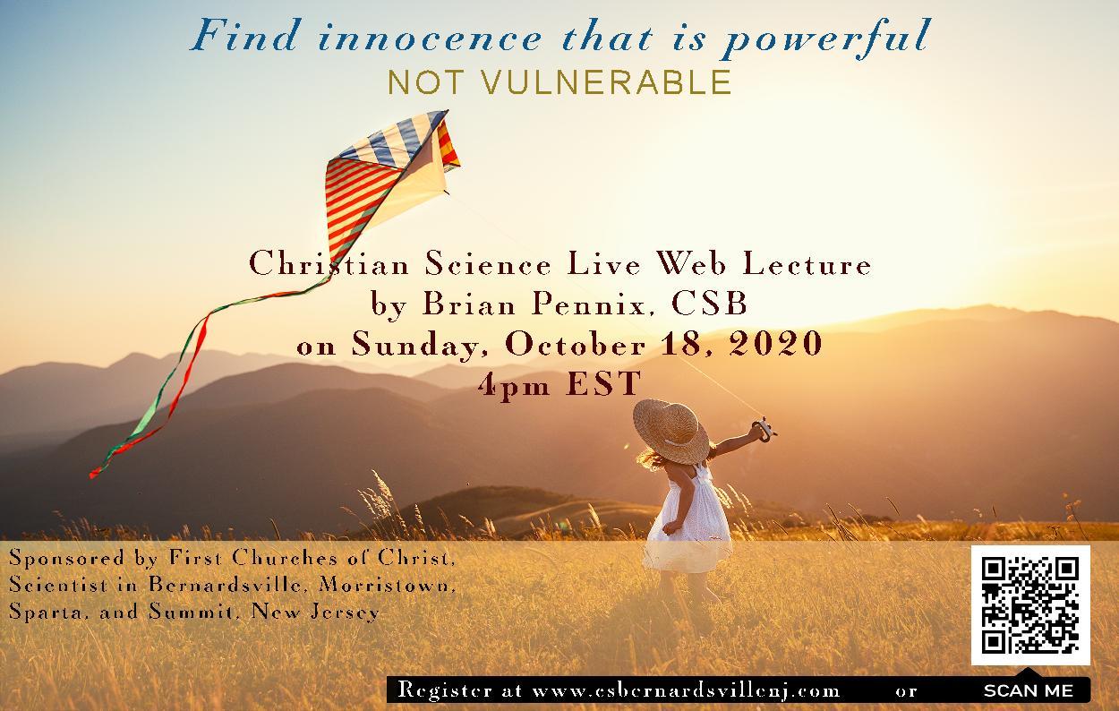 Invitation for Brian Pennix online lecture